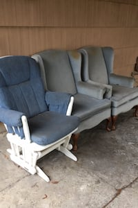 Wingback chairs and glider rocker