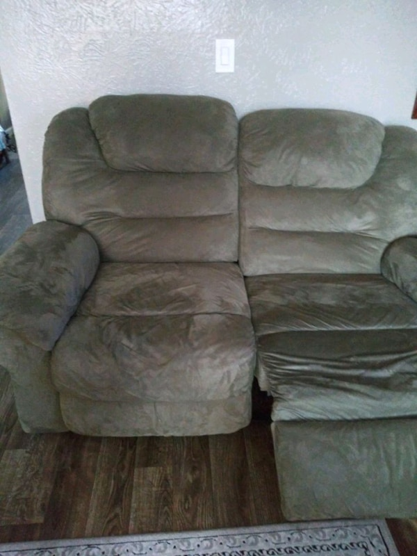 Used Brown Suede Recliner Sofa Chair For Sale In Arlington Letgo
