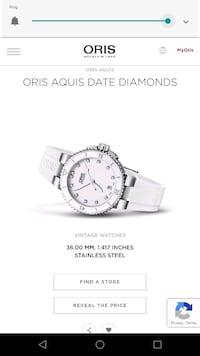 Oris Ladies Watch - 36 mm, rubber band, diamonds Harpers Ferry, 25425