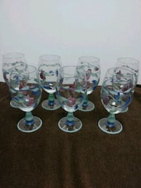 7 piece Hand painted stemware Made in Italy Chesterton, 46304