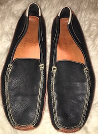 Cole Haan mens blue leather Nike air loafer drivers Sz 12 M great pre owned condition Puyallup, 98375
