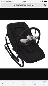 Babyens svarta bouncer