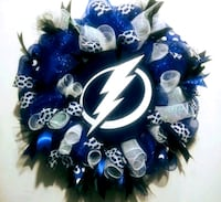 blue and white mesh wreath New Port Richey, 34652