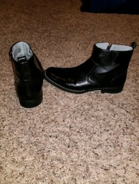 Men's black leather boots sz 11