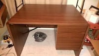 Brown Desk with 2 Drawers