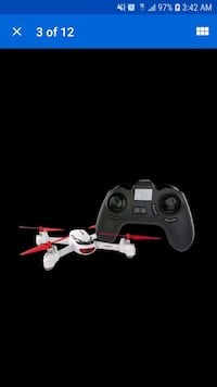 black and red quadcopter drone 55 km