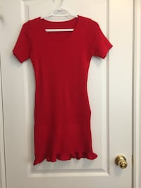 Women's red knitted dress size S Toronto, M5M 2K7