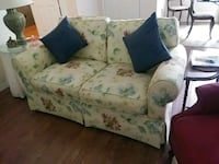white and green floral fabric loveseat Leesburg, 34748