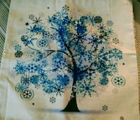 New cotton linen winter tree pillow cover Montreal, H8T