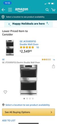 GE DOUBLE ELECTRIC OVENS