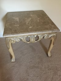 Marble coffee and 2 end tables Herndon