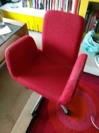 red fabric padded rolling armchair Vancouver, V6E 1V5