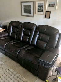 Faux leather double reclining couch  Alexandria, 22311