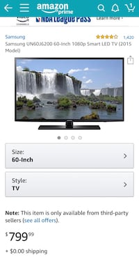 "Samsung full hd tv 60"" Clarksburg, 20871"