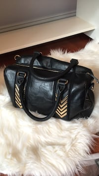 black leather 2-way handbag Fulton, 20759