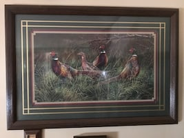 Vintage Home Interior pheasant  Wall Decor!
