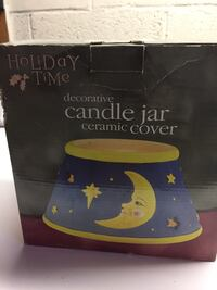 Holiday time candle jar cover new in box Joppa, 21085