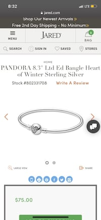 NEW Authentic Pandora Bangle Fairfax, 22033