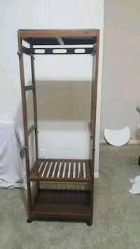 Wardrobe with full length mirror and wheels West Des Moines