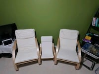 white wooden framed white padded armchair Brampton, L6R