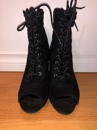 Black Lace up Boots CA, V3M 1X6