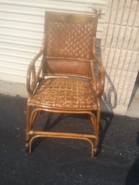 Wicker Bamboo Rocking Chair