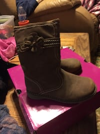brown suede calf boots with box Lancaster, 75134