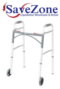 """New- Drive Medical Deluxe Two Button Folding Walker with 5"""" Wheels Mississauga"""