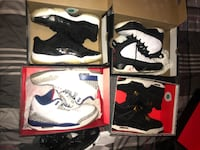Four pairs of air jordans , prices negotiable
