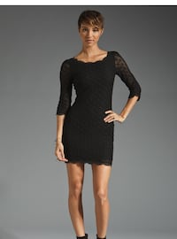 Joie Black lace dress, sz large  Toronto, M5P 2X9