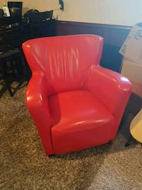 Faux red leather chair Surrey, V3S 1M3