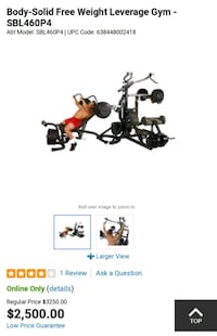 Body-Solid Free Weight Leverage Gym - SBL460 Holly, 48442