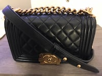 Authentic Chanel Le Boy Flap Bag Small GHW