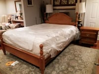 BASSET QUEEN BED WITH NIGHT STAND AND MATTRESS  Gaithersburg, 20879