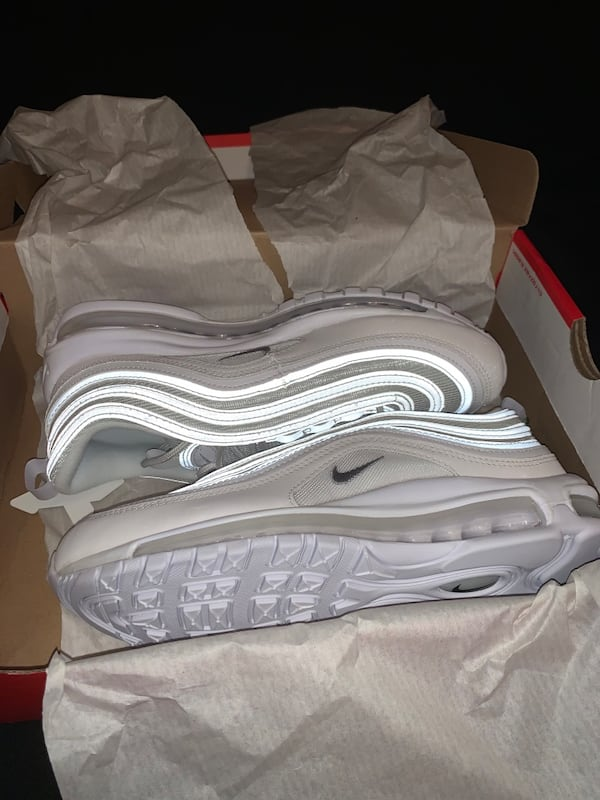 Used Nike Air Max 97 Triple White Wolf Grey For Sale In Houston