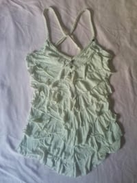women's green and white spaghetti strap top Vancouver, V6H 2N9