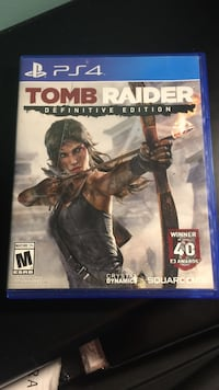 Tomb Raider PS4 game case Johnstown town, 12095