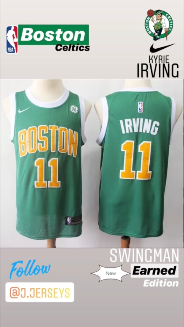 best service 06905 c0105 NEW NBA Earned Edition SWINGMAN jersey - Boston Celtics (Kyrie Irving)