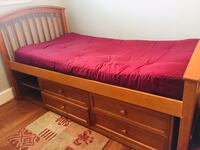 Twin  Mattress only. Wooden cot is not for sale! Falls Church, 22042