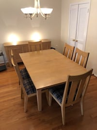Dining Table with 6 Chairs & Matching Buffet Rockville, 20852