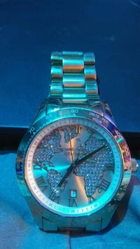round silver-colored analog watch with link bracel Las Cruces, 88005