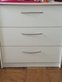 Dresser with 3 Drawers  white wood  Somerset, 20815