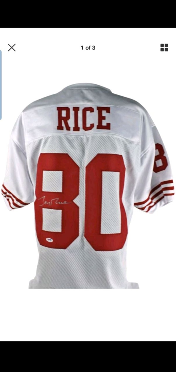 meet 655df 47a66 Jerry rice autographed Jersey vintage 49ers!!