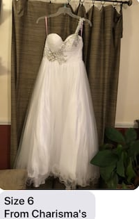 White senior prom dress Size 6 Duson, 70529