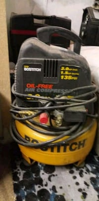 Compressor with finish nailer