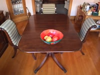 Vintage mahogany dining table & chairs MONTREAL