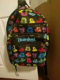 Colorful Mickey Mouse backpack from Disneyland!