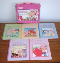Strawberry Shortcake Storybook Collection 5 Hard Cover Book Box Set Vintage 2004  JOLIET