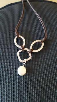 Silpada Sterling and Leather Necklace Manassas