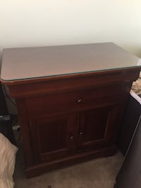 brown wooden 2-drawer nightstand Jersey City, 07310